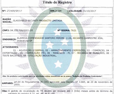 Titulo de registro no exército